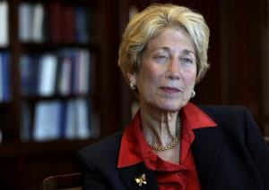 US District Court Judge Shira Scheindlin is interviewed in her federal court chambers in New York in this file photo.