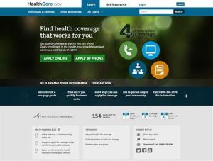 In this Oct. 28, 2013, file screenshot, the US Department of Health and Human Services' main landing web page for HealthCare.gov.
