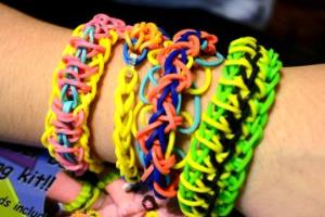 The end result of the Rainbow Loom.