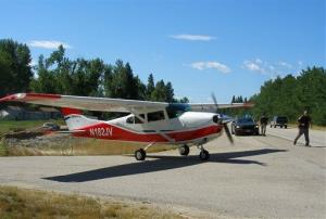In this July 21, 2011, file photo, a Cessna 182.
