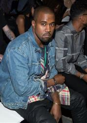 Kanye West attends the Alexander Wang collection on Saturday, Sept. 7, 2012, during Mercedes-Benz Fashion Week in New York.