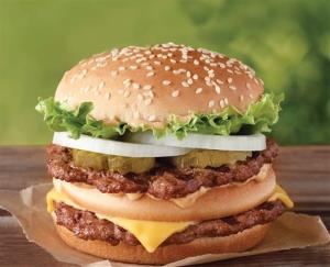 This undated image provided by Burger King shows the Big King sandwich.