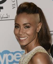 Actress Jada Pinkett Smith shows off her dramatic new hairstyle at the Make Equality Reality Gala at the Montage Beverly Hills on Monday, Nov. 4, 2013, in Beverly Hills, Calif.