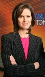Elizabeth Vargas  poses in ABC's World News Tonight studio,  on  Dec. 5, 2005, in New York.