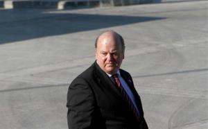 Ireland Financial Minister Michael Noonan arrives at the conference center following an Informal European economic and financial affairs council in capital Nicosia, Cyprus, Friday, Sept. 14, 2012.