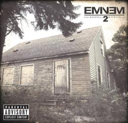Eminem's childhood home is shown on the cover of 'The Marshall Mathers LP 2.'