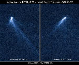 These Hubble images show the strange comet-like object.