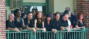 Bruce Springsteen and the E Street Band, including Danny Federici, front, third from right.