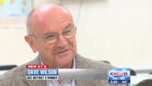 A screenshot from KHOU video featuring Wilson.