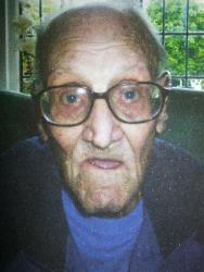 Undated photo of 99-year old war veteran Harold Jellicoe Percival who died in October 2013 with no known close friends or family.