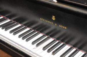 The prized Steinway grand piano appears in Studio A, Monday, April 1, 2013.