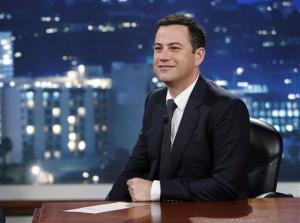 This July 3, 2013 photo released by ABC shows Jimmy Kimmel on Jimmy Kimmel Live.