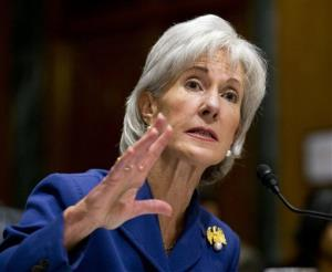 Health and Human Services Secretary Kathleen Sebelius testifies on Capitol Hill in Washington, Wednesday, Nov. 6, 2013.