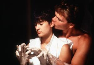 In this image released by Paramount Pictures, Demi Moore, left, and Patrick Swayze are shown in a scene from Ghost.