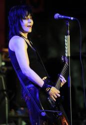 Joan Jett performs with her band The Blackhearts during the 18th Annual Race to Erase MS Gala, Friday, April 29, 2011, in Los Angeles.