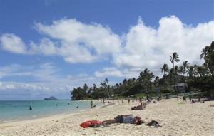 Lanikai Beach in Kailua, Hawaii.