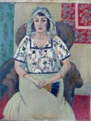 A painting by Henry Matisse 'Sitzende Frau' ('Sitting Woman') among more than 1,400 artworks seized by German authorities in an apartment in Munich in February 2012.