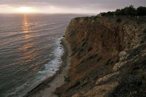 The sun sets at the Point Vicente Park on the Pacific Ocean in Palos Verdes, Calif. on Monday, June 22, 2009.