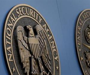 A sign stands outside the National Security Administration (NSA) campus on Thursday, June 6, 2013, in Fort Meade, Md.
