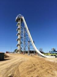 The towering slide.