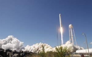 File photo of a rocket lifting off from NASA's Wallops Island site.