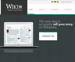 A screenshot from Wiki-PR's homepage.