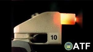 A screen grab from an ATF video about 3D-printed guns. This one blew up during testing.