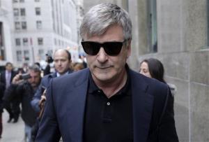 Alec Baldwin leaves criminal court in New York Nov. 12, 2013.