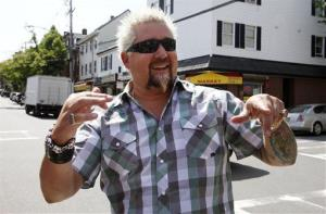 Food Network celebrity Guy Fieri of 'Diners, Drive-Ins and Dives.'