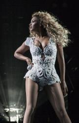 Singer Beyonce performs on her Mrs. Carter Show World Tour 2013, on Wednesday, Oct. 16, 2013 at the Vector Arena in Auckland, New Zealand.