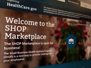 This photo of part of the HealthCare.gov website page featuring information about the SHOP Marketplace is photographed in Washington, Wednesday, Nov. 27, 2013.
