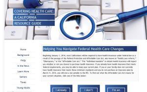 A screenshot of the GOP site.