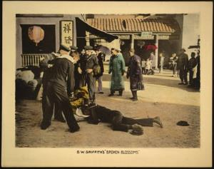 This undated handout image provided by the Library of Congress shows a motion picture lobby card for D.W. Griffith's Broken Blossoms (1919).