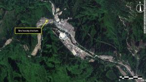 A satellite image from the Amnesty report.
