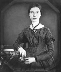 A portrait of Emily Dickinson.