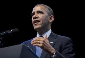 President Barack Obama speaks about the economy and growing economic inequality, Wednesday, Dec. 4, 2013, at the Town Hall Education Arts Recreation Campus in Washington.