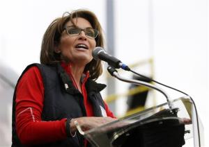 This Oct. 12, 2013 file photo shows former Alaska Gov. Sarah Palin.