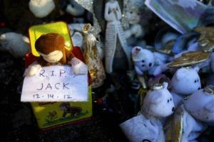 A memorial last year after the shootings in Newtown, Conn.