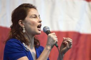 In this Nov. 1, 2008  file photo, actress Ashley Judd, a Kentucky native, speaks at a Democratic get-out-the-vote rally in Louisville, Ky.