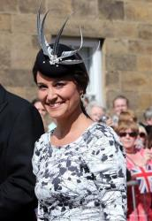 Pippa Middleton wears a funny hat.