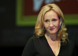 This is a Thursday, Sept. 27, 2012 file photo of British author JK Rowling as she poses for the photographers during a photo call to unveil her new book at the Southbank Centre in London.