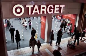 Shoppers visit a Target store in New York.