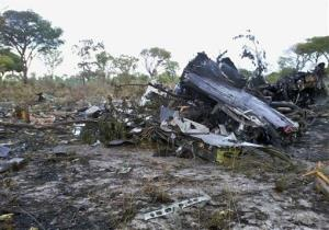 This Saturday, Nov. 30, 2013 file photo shows the wreckage of a Mozambique Airlines plane that crashed Nov. 29 in the Bwabwata National Park, Namibia, killing all 33 on board.