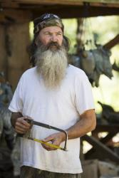 Phil Robertson from the popular series Duck Dynasty. Robertson was suspended last week for disparaging comments he made to GQ magazine about gay people.