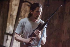 This image released by Relativity Media shows Christian Bale in a scene from 'Out of the Furnace.'