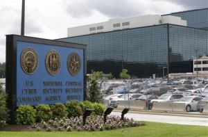 This June 6, 2013, file photo shows a sign outside the National Security Agency (NSA) campus in Fort Meade, Md.