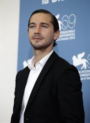Actor Shia LaBeouf poses at the photo call of the film 'The Company You Keep' at the 69th edition of the Venice Film Festival in Venice, Italy, Thursday, Sept. 6, 2012.