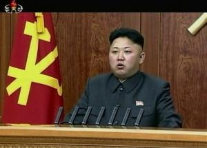 North Korean leader Kim Jong Un delivers an annual New Year's Day message in Pyongyang.