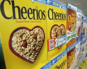 Boxes of General Mills Cheerios are displayed at a Little Rock, Ark., grocery store.
