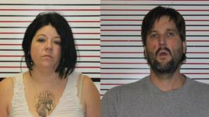 Erica Manley, 37, and Ryan Bensen, 40, were busted after the waitress called 911.